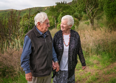 Portrait of a loving older couple by Christchurch family photographer Kirsten Naomi Photography  | Family Portraits | Lifestyle Photography | Environmental Portraits | Simply Authentic