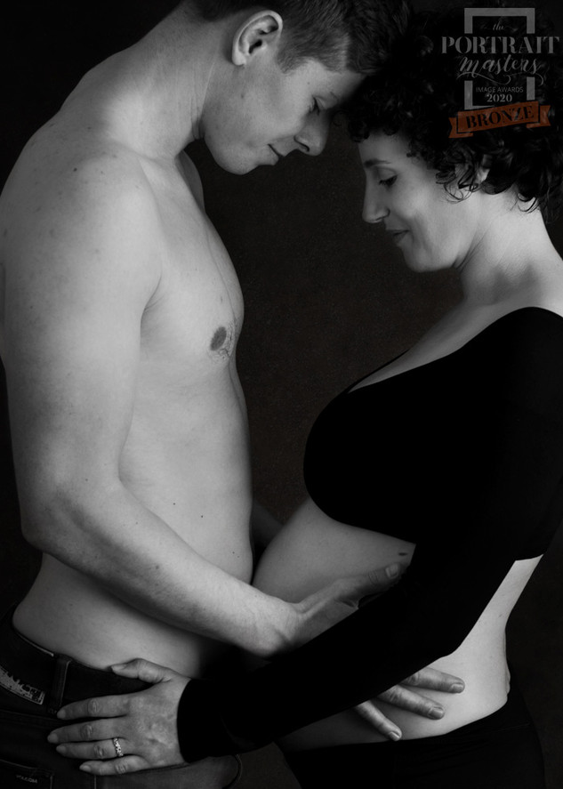 Award winning maternity portrait of an expectant mother and father by Christchurch Maternity Photographer Kirsten Naomi Photography