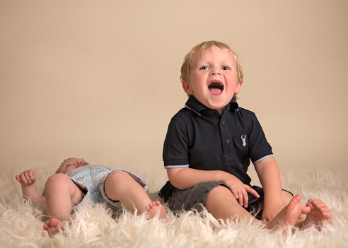 Portrait of two brothers by Christchurch family photographer Kirsten Naomi Photography