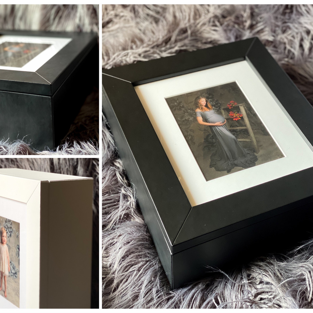 Italian leather portriat boxes by Christchurch Photographer Kirsten Naomi Photography