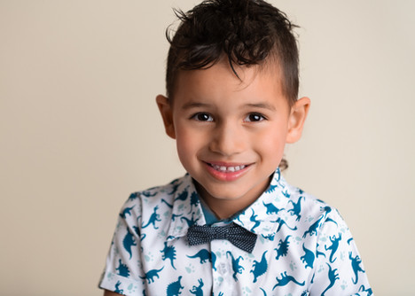Close up portrait of a four year old boy by Christchurch family photographer Kirsten Naomi Photography