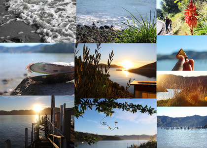 Collage of landscape images by photography students on a workshop in Christchurch, New Zealand