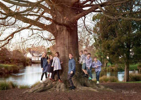 Portrait of a group of cousins by Christchurch family photographer Kirsten Naomi Photography | Family Portraits | Lifestyle Photography | Environmental Portraits | Simply Authentic
