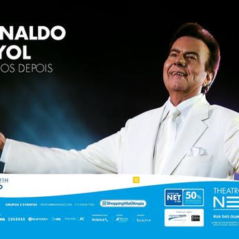 Agnaldo Rayol fara novo show no Teatro Net SP dia 22 de agosto.