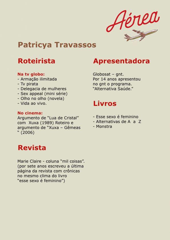 Espetáculo - Aérea com Patricia Travassos
