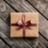 Vintage gift box on old wooden backgroun