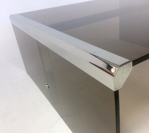 Chrome and Glass Coffee Table by Galloti & Radice