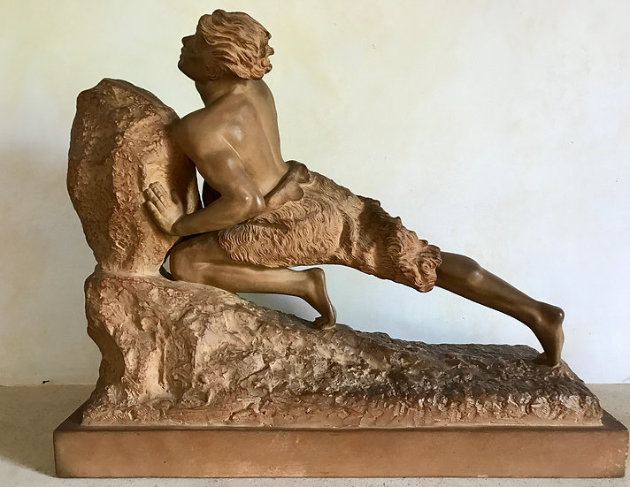 Terra Cotta Maquette of Sisyphus by Gregoire