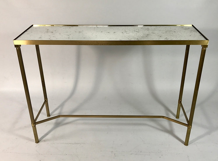 Console Table with Antiqued Glass Top