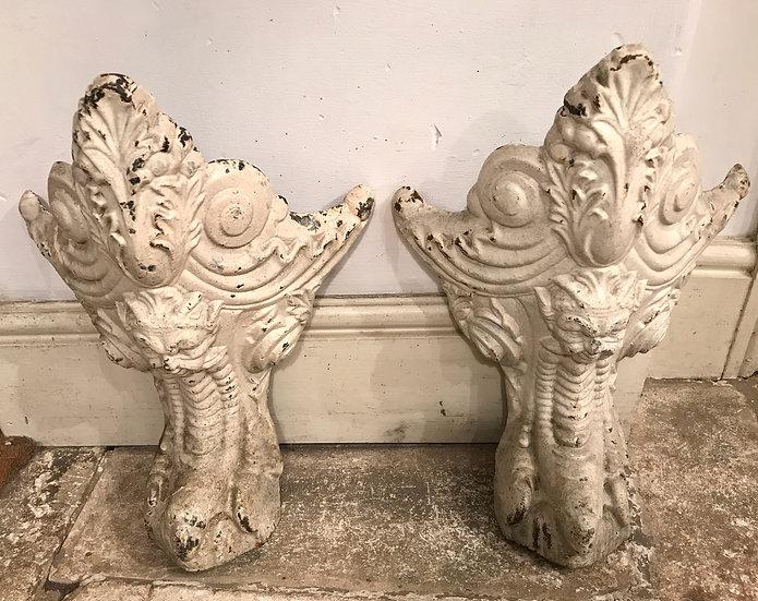 Pair of Cast Iron Bath Feet