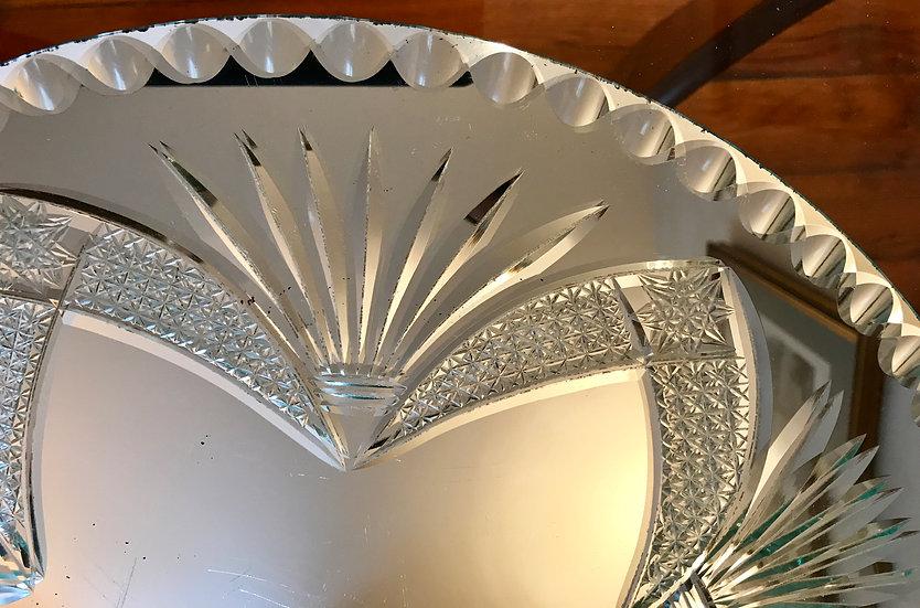 Round Cut Table Mirror