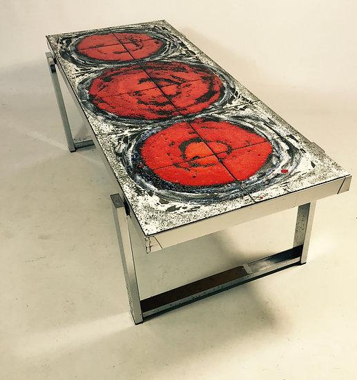 Orange Tile Coffee Table