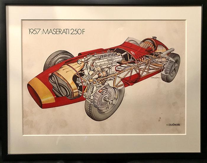Serge Bellu Print-Maserati 250F