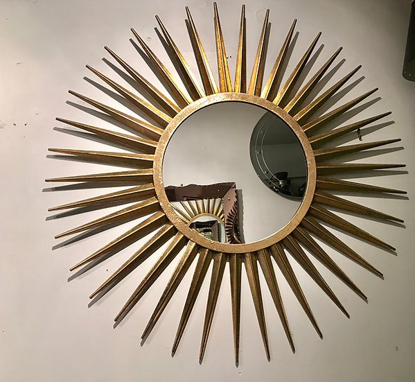 Regilded Sunburst Mirror