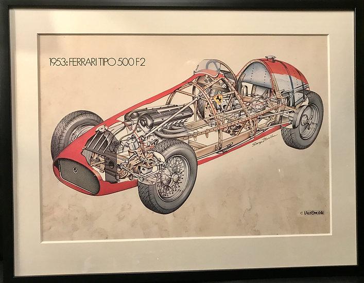 Serge Bellu Print-Ferrari 500 F2