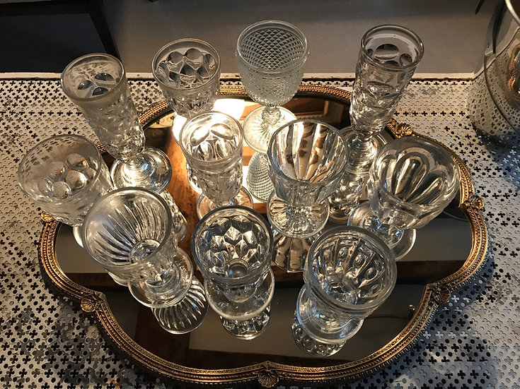 19th Century Pressed Glass Drinking Glasses