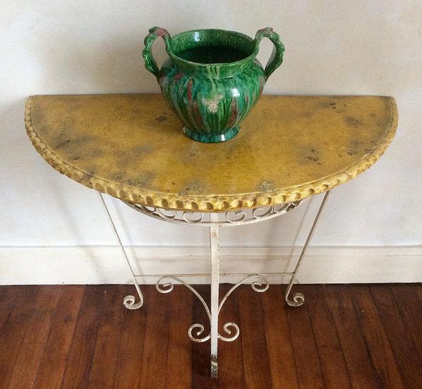 Ceramic Demi Lune Console Table