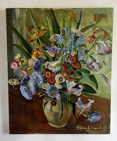 Oil on Canvas of a Bouquet of Flowers