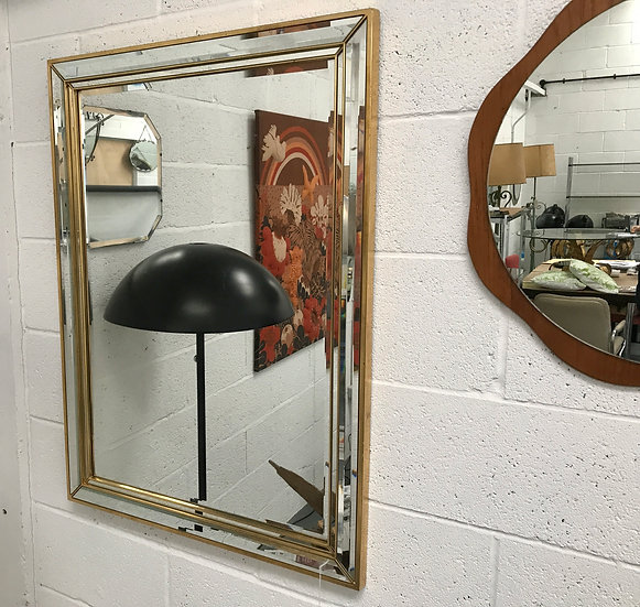 Retro Framed Mirror