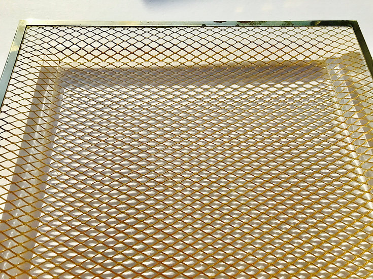 Perspex and Brass Mesh Serving Tray