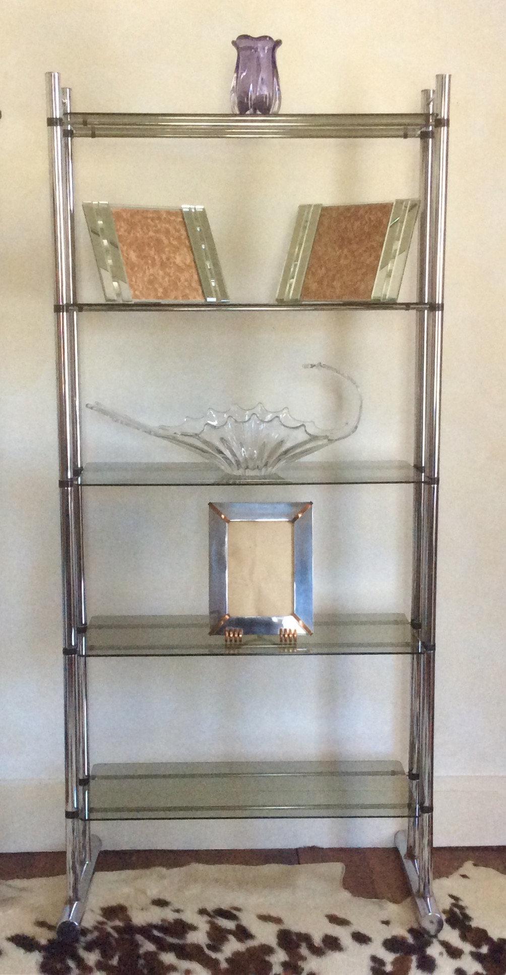 Miraculous Five Shelf Chrome Etagere Home Remodeling Inspirations Basidirectenergyitoicom