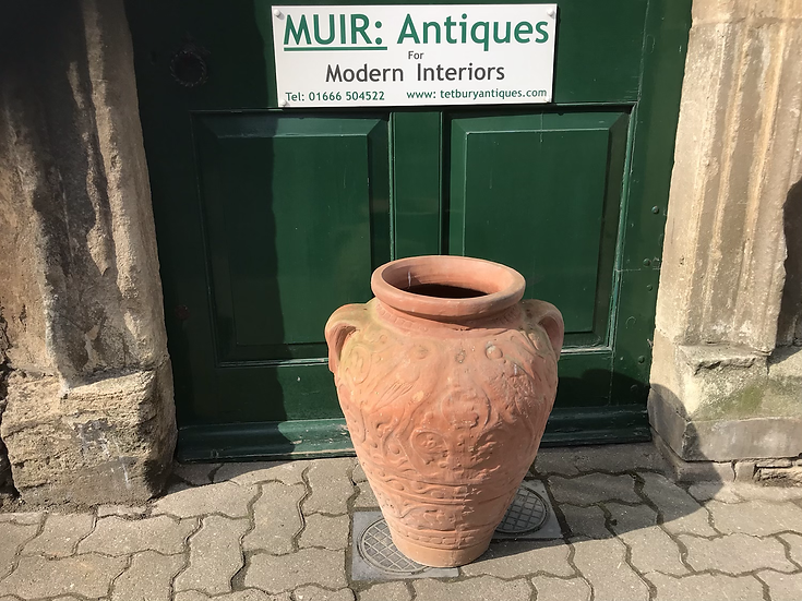 French Terracotta Pot Mid 20th Century