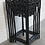 Thumbnail: Chinese Padouk Wood Nest Of 4 Tables Original Distressed Black Lacquer
