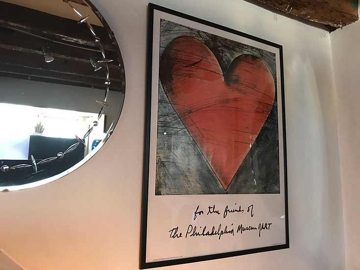*Valentine* 1984 The Philadelphia Heart By Jim Dine Poster Re Framed