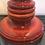 Thumbnail: West German Stunning Ceramic Rare Redtable Lamp 50's - 60's