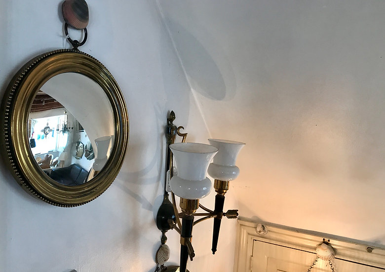 Convex Brass Pocket Watch Mirror