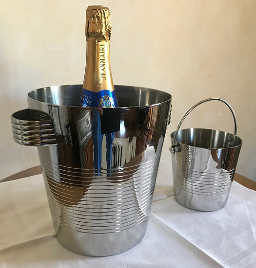 Stainless SteelChampagne Bucket and matchingIce Bucket