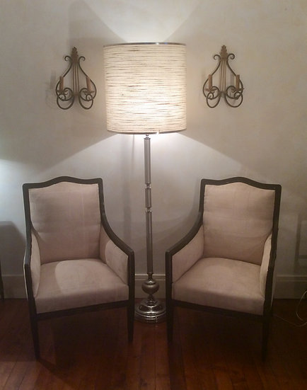 French Deco Ebonised Chairs