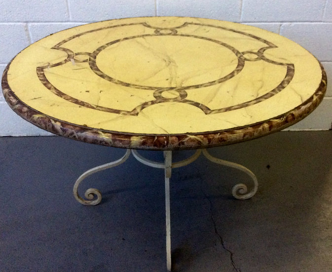 Faux Marbre Dining Table