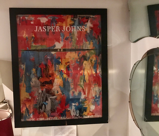Framed Jasper Johns Poster with two balls