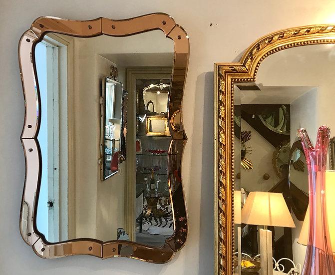 Peach Shaped-Frame Mirror