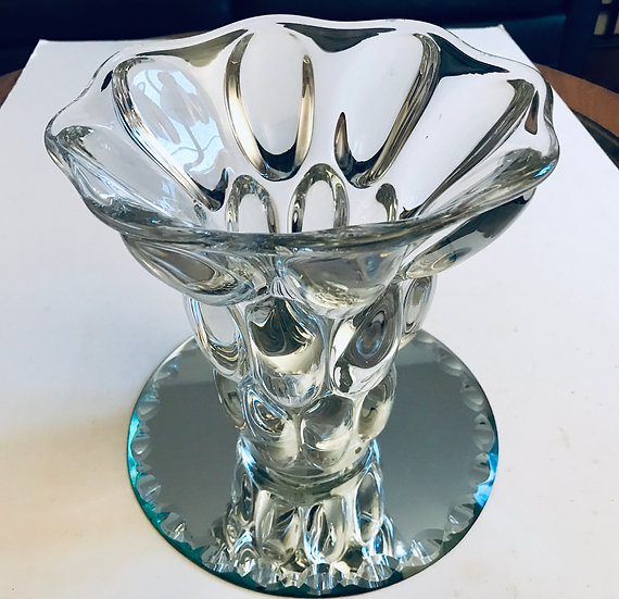 Vannes Oblong Lozenge Crystal Vase