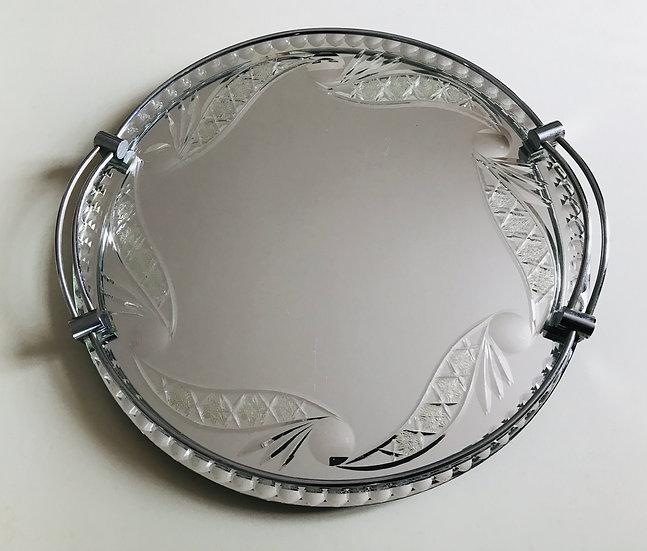 Round, Top-Cut Mirror Tray