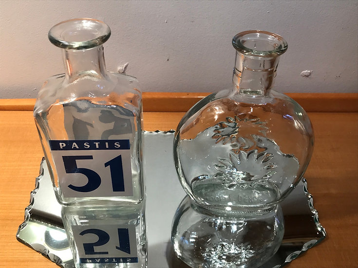 Two Vintage water bottles to dilute your Lovely Aperitif Pastis