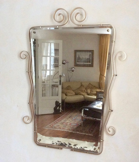 Retro Framed Mirror