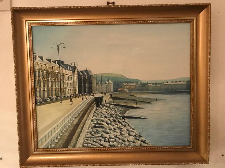 Framed Painting Mid century Post Impressionist Oil On Canvas