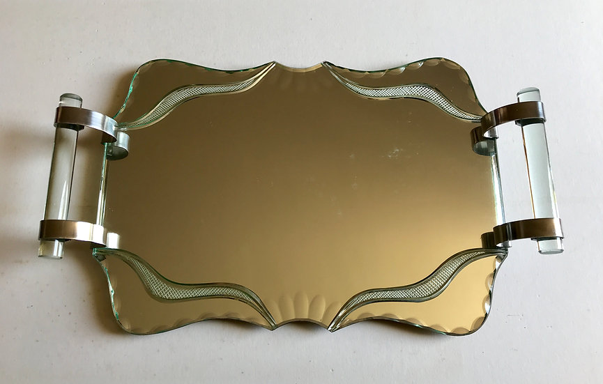 Serpentine Deco Mirror Tray