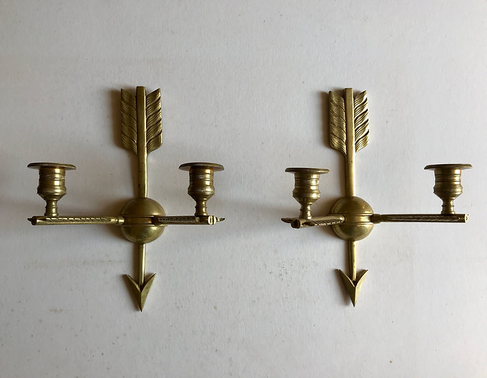 Cast Brass Arrow Wall Brackets