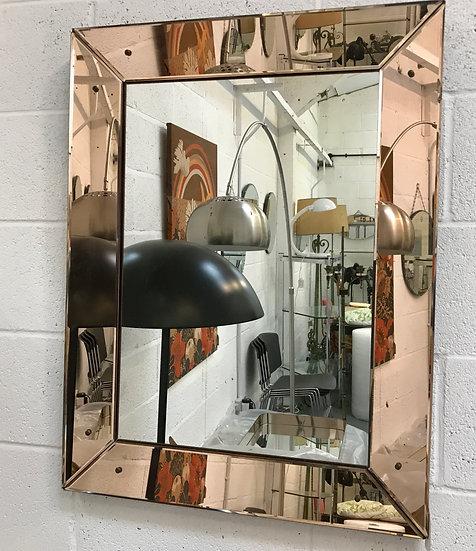 Rectangular Wall Mirror with Peach Mirror Frame