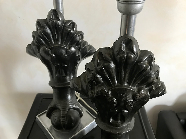 Pair of Cast Iron Ball & Claw Bath Feet Lamps