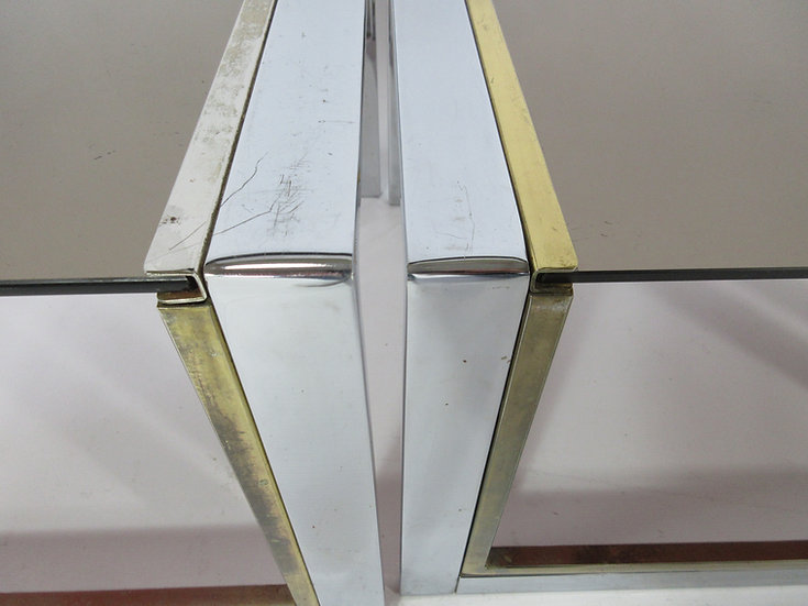 Trio of Chrome Side Tables