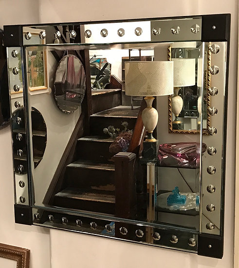 1970s Venetian Style Mirror With Convex Bubbles