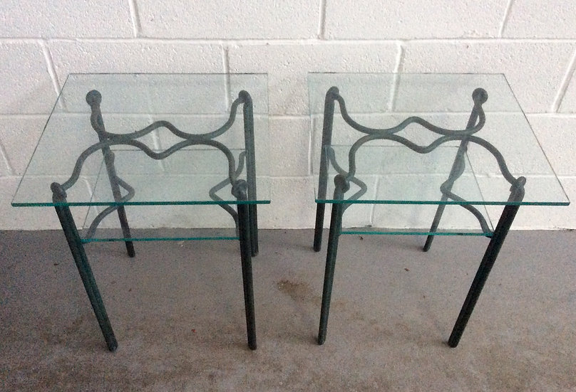 Side Tables in Wrought Iron