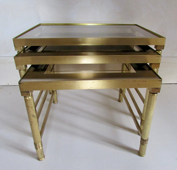 Trio of Brass Side Tables