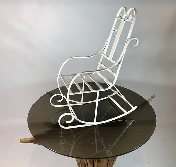 Child's Wrought Iron Rocking Chair.