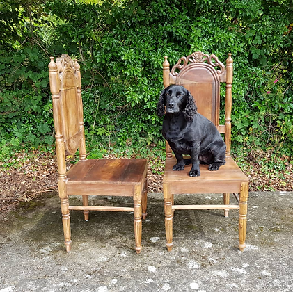 Pair of Early 20th Century Anglo-Indian Side Chairs